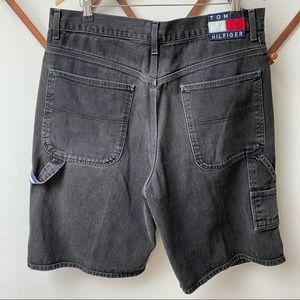 Vintage 90s Tommy Hilfiger Carpenter Jean Shorts